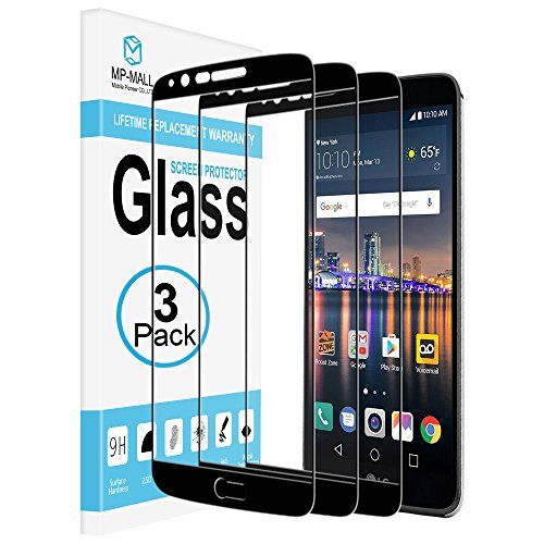 [3-Pack] MP-MALL Screen Protector for LG Stylo 3, [Tempered Glass][Full Cover] with Lifetime Replacement Warranty