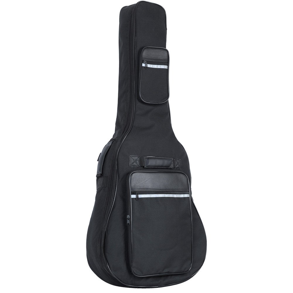 ADM Acoustic Guitar Nylon Padded Gig Bag with Pockets, Straps and Handles, Waterproof Thicken Guitar Case