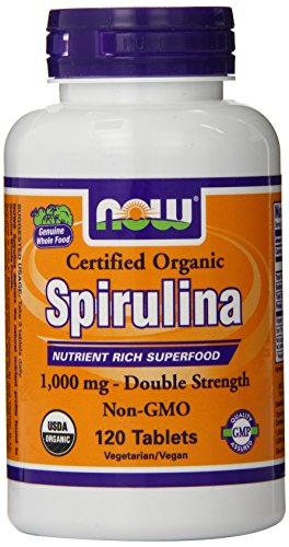 Now Foods Spirulina Certified Organic Tablets 1000 mg 120 Count