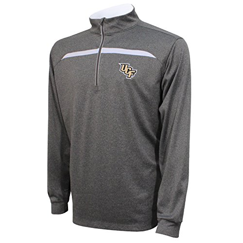 Crable NCAA Central Florida Golden Knights Adult Men's Quarter Zip with Contrast Panel, Large, Black/White ()