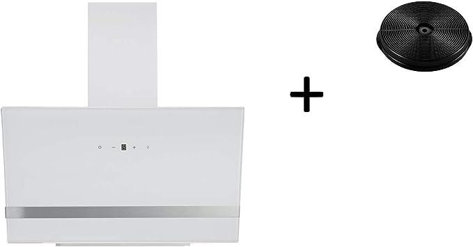 respekta CH24090WA+MIZ0023 - Campana extractora (90 cm, sin cabezal, filtro de carbón activo), color blanco: Amazon.es: Grandes electrodomésticos