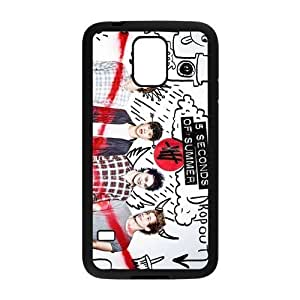 AMAF ? Accessories Custom Design 5 Seconds of Summer 5sos Durable Protection Snap On Cover Case For Samsung Galaxy S5 [ 5 sos ]
