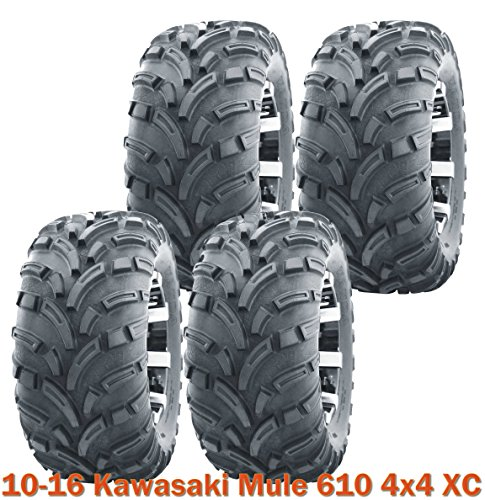 (4) 26x9-12 UTV ATV tires 26x9-12 for 10-16 Kawasaki Mule 610 4x4 XC Lit Mud (Mule Trailer Kawasaki)