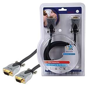 HQ - Cable VGA para monitor (de D-Sub de 15 pines a D-Sub de 15 pines, 5 m)