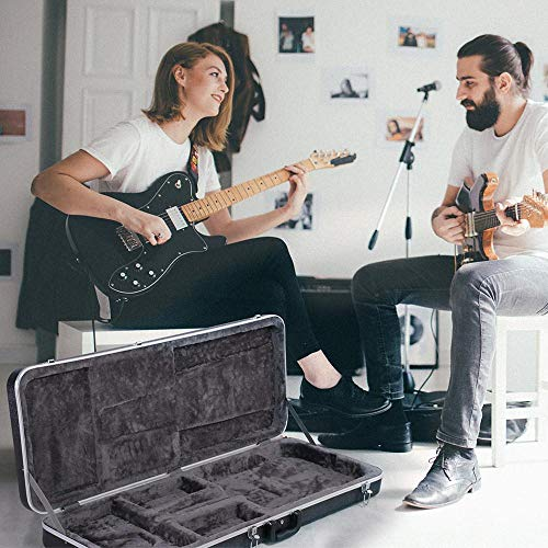 Yaheetech ABS Electric Guitar Case Elegant Hardshell Bass Case for Strat/Telecaster Style Flight with Lock Latch Keys Black by Yaheetech (Image #1)