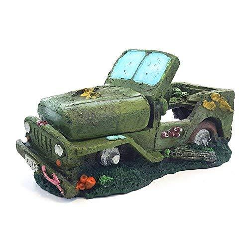 All Pond Solutions Army Jeep Car Aquarium Fish Tank Ornament