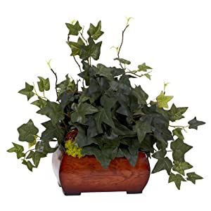 Nearly Natural 6683 Puff Ivy with Chest Decorative Silk Plant, Green 20