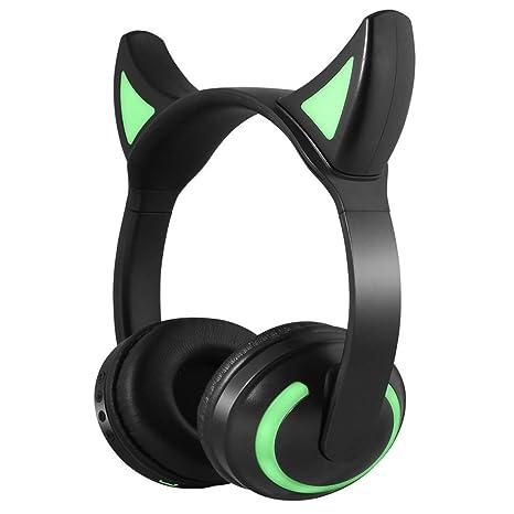 Auriculares Bluetooth, Auriculares inalámbricos Luminosos de Anime, adecuados para transmisión en Vivo, Juegos
