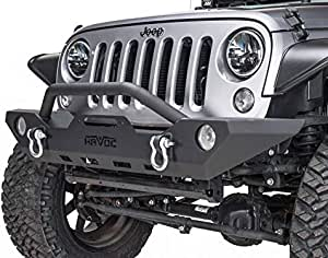 Havoc Offroad Mid Width Bumper (fits) 2007-2018 Jeep Wrangler JK Front Bumpers (Wrecking Ball) Mid Width