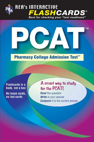 PCAT (Pharmacy College Admission Test) Flashcard Book (PCAT Test Preparation)
