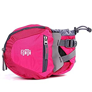 EGOGO travel sport waist pack fanny pack bum bag hiking bag with water bottle holder (Rosy)