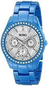 XOXO Women's XO113 Rhinestone Accent Turquoise Enamel Bracelet Watch