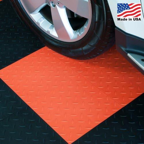 Modutileガレージフローリング酷使タイル、ダイヤモンドトップ、27パック 12 x 12 x 0.5 inch オレンジ T1US4927