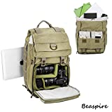 Beaspire 14 inch Laptop Camera Hiking and Travel Backpack
