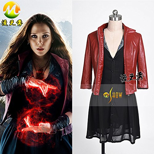 [Avengers: Age of Ultron Marvel's The Avengers 2 Scarlet Witch costume Cosply Prop] (The Avengers 2 Scarlet Witch Costume)
