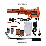 Sywwlov 12 V DC 3.0 Ton (6600lb) Fully Automatic Electric Scissor Car Jack with Wheel Nut Wrench Repair Tire Change Kit (3.0T Electric Jack+Wheel Wrench)