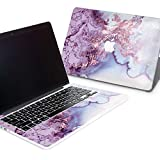 ZizzStore MacBook Hard Case and Keyboard Decal Set Protective Hard Shell with Vinyl Sticker Around Keyboard for (Pro Retina 15 (A1398), Pink Marble)