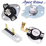 3387134 High-Limit Thermostat 3392519 Dryer Thermal Fuse 3977393 Thermal Cut-off Switch 3977767 Cycling Thermostat by APEX Replaces 3399693 WP3977767VP PS345113 AP6008325 WP3977393