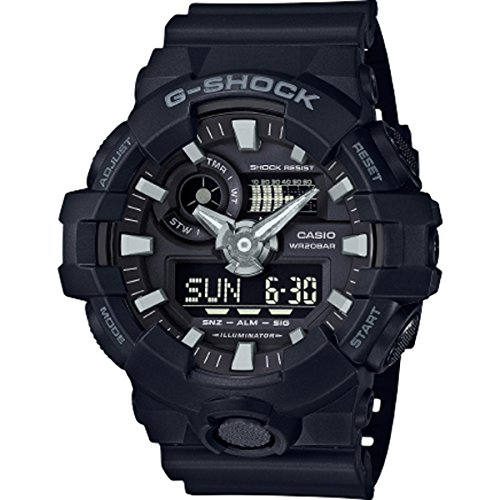 G-Shock GA-700 Front Button Series - Black / One Size