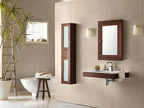 RONBOW Frederick 24'' x 32'' Transitional Solid Wood Frame Bathroom Medicine Cabinet in Dark Cherry, 2 Mirrors and 2 Cabinet Shelves 618125-H01 by Ronbow (Image #3)