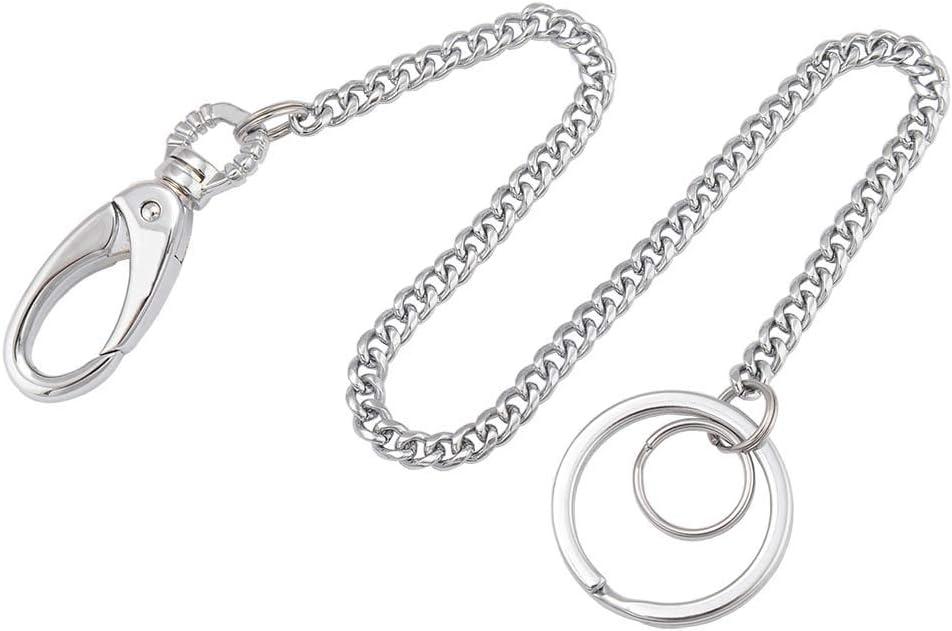 Wallet Long Purse Chain Punk Key Chain with Chain for Biker Trucker Motorcycle Pants Jean Liangery Wallet Chain Silver 11.81 inch for Men Women