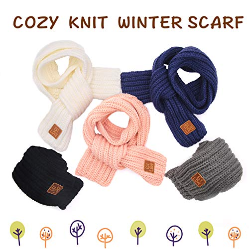 XIAOHAWANG Baby Boys Girls Winter Scarf Infant Thick Knit Scarves Toddler Neckerchiefs lovely