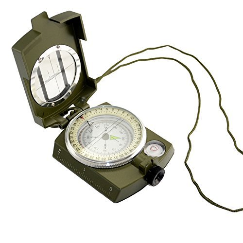Military Army Style Lensatic Compass Outdoor Camping Hiking Prismatic Compass by Generic Review