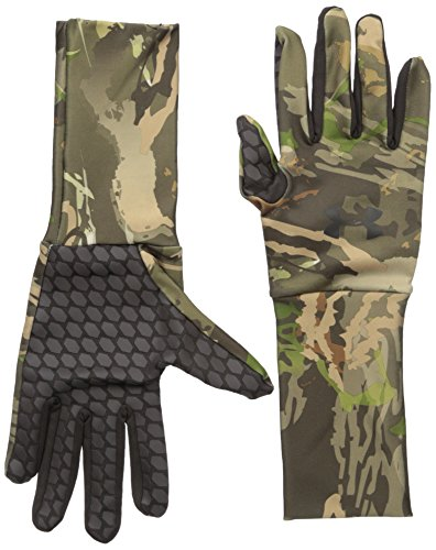 Under Armour Men's ColdGear Camo Liner Gloves, Ridge Reaper Camo Forest /Black, Medium