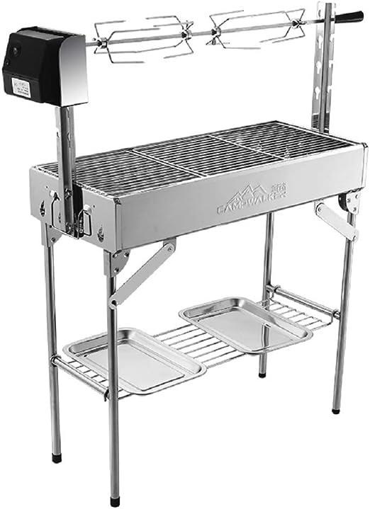 Moran Grill Outdoor 5 - Parrilla giratoria automática portátil: Amazon.es: Jardín