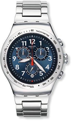 Swatch Unisex Chronograph Quartz Watch with Stainless Steel Bracelet - YOS455G