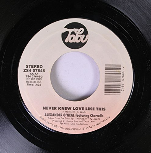 Alexander O'Neal 45 RPM Never Knew Love Like This / What's Missing