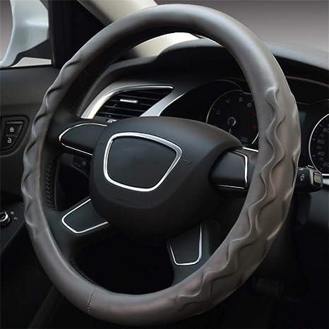 amazon com elegence z car steering wheel cover,non slip lambskin