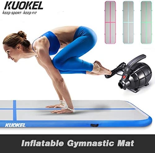 Amazon.com: KUOKEL Gymnastic Professional Air Track ...