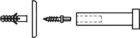 SOTECH 4 St/ück Garderobenhaken TALEA echt Edelstahl massiv schwarz pulverbeschichtet /Ø 10//15 mm L/änge 30 mm Gesamtl/änge 33 mm Kleiderhaken mit Platte Wandhaken mit verdeckter Montage