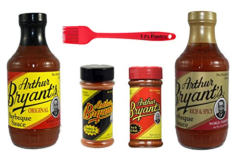 Arthur Bryants BBQ Sauce and Dry Rub Variety Bundle - 4 Pack