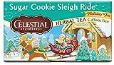 Celestial Seasonings Herbal Tea, Sugar Cookie Sleigh Ride, 20 Count (Pack of 6)