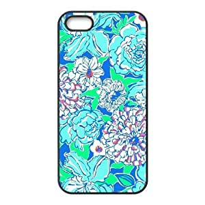 Blue Flowers Use Your Own Image Phone Case for Iphone 5,5S,customized case cover ygtg612392