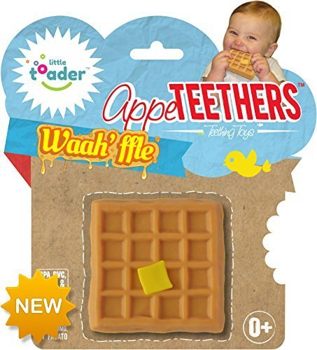 Little Toader Teething Toys, Waah'ffle Appe-Teethers by Little Toader