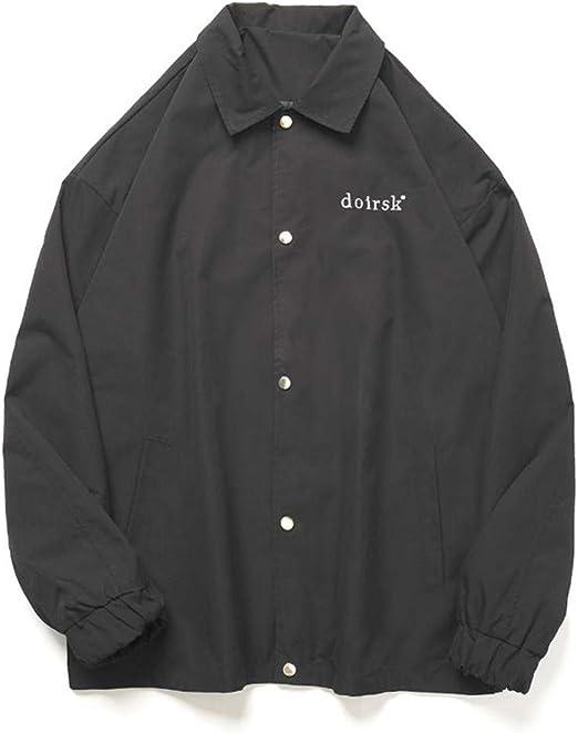 (スーイ)メンズ カジュアルコート 野球服 poloネック ボンバージャケット かっこいい オシャレ 春秋 ゆったり 大きいサイズ ヒップホップジャケット 通学 旅行