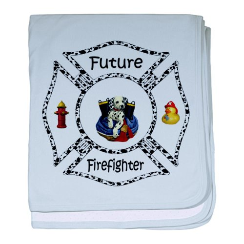 Future Firefighter Dalmatian baby blanket - Baby Blanket, Super Soft Newborn Swaddle