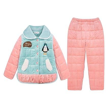 2bf7d8317 Camisones Pijama Niñas Invierno Coral vellón Engrosamiento Acolchado niño  Grande Princesa niña además de Terciopelo cálido