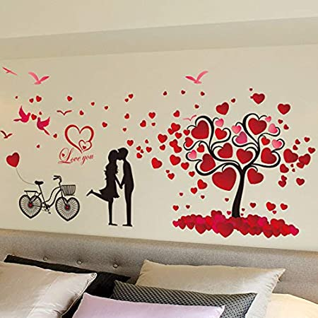 Daadi Árbol del Amor Tatuajes de Pared Parejas Amor en Bicicleta ...