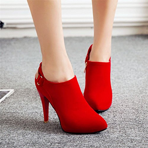 Boots Women's Dress Rhinestones Elegant Ankle Carolbar Red nOAq0XqI