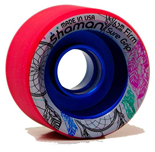 Sure-Grip Shaman Wheels - red 95A Hardness ()