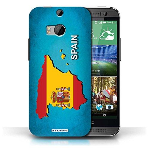 Kobalt® Imprimé Etui / Coque pour HTC One/1 M8 / Espagne/Espagnol conception / Série Drapeau Pays