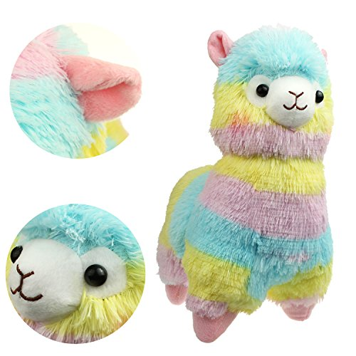 KSB 14'' Rainbow Plush Alpaca,100% Plush Stuffed Animals Doll Toys,Best Birthday Gifts For The Children (Animals Alpaca)