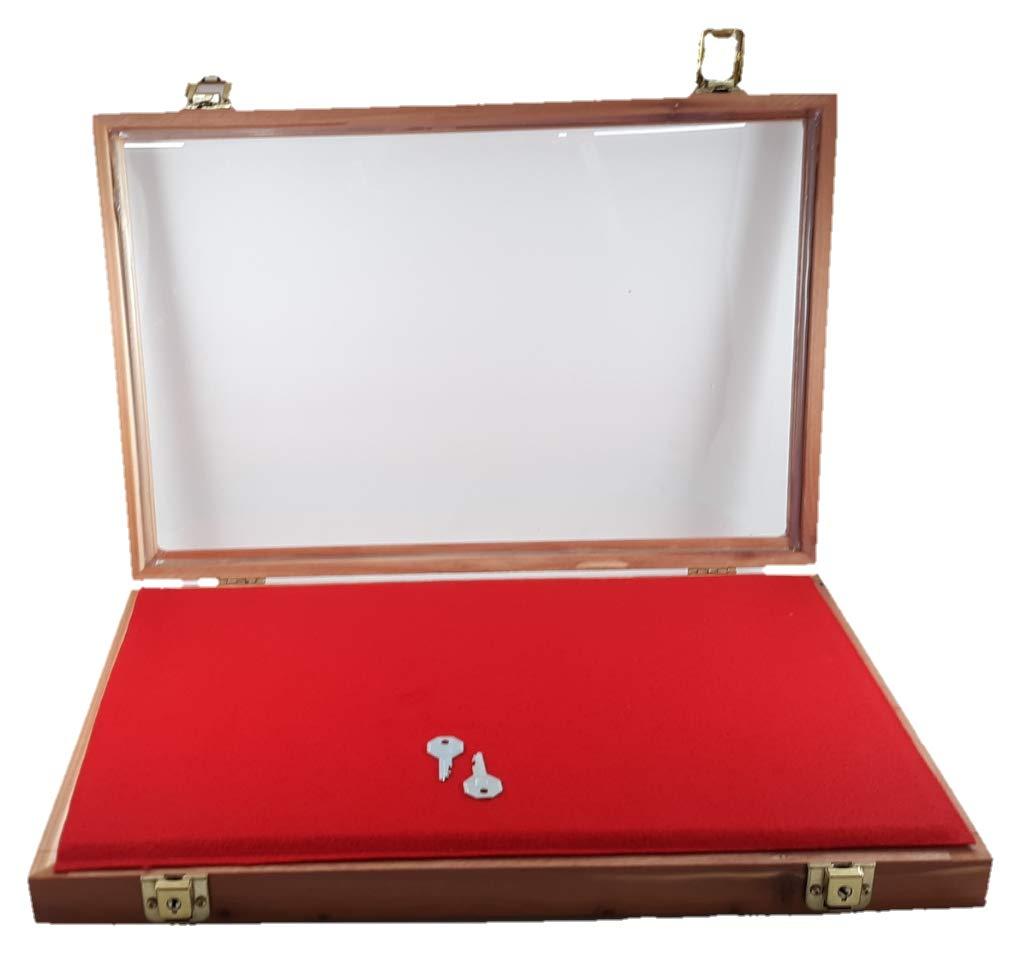 12''x18''x2'' Cedar Table Top or Wall Mounted Display Case