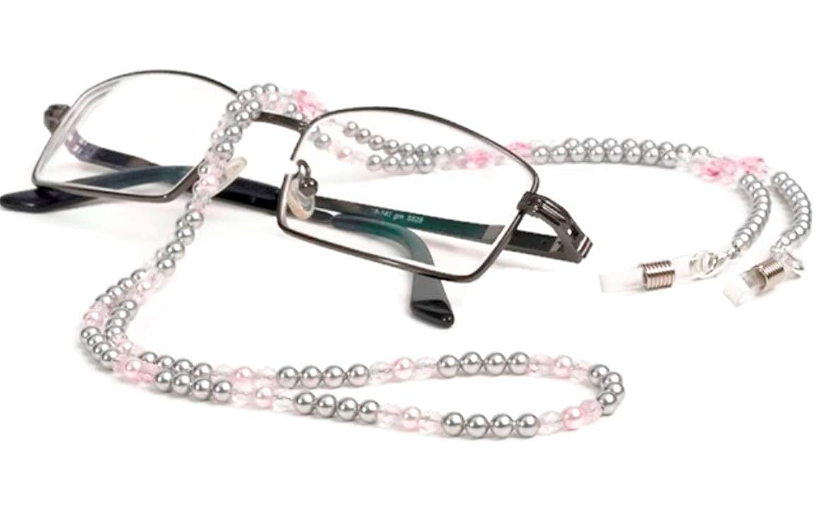 4251e7eefe5 Luxury Eyeglass Chain Pink and Silver Pearl Swarovski Eyeglass Holder