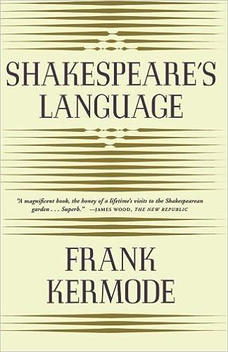 Amazon.com: Shakespeare's Language (9780374527747): Frank Kermode ...