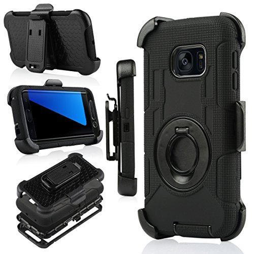 Shockproof Hybrid Case for Samsung Galaxy S6 Edge (Black/Gold) - 7
